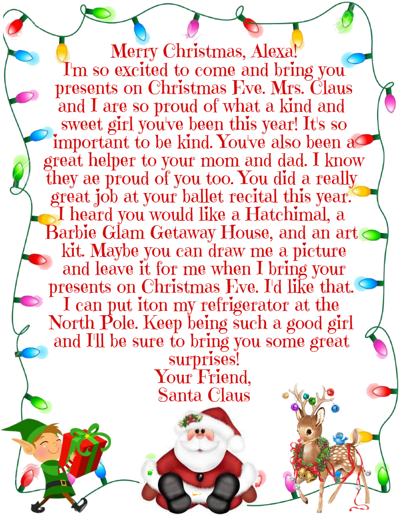 christmas letters from santa claus  u2013 boswell professional